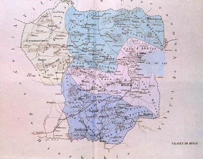 Osmanlı Dönemi Bitlis Haritası